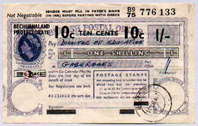 bechuanaland postal order