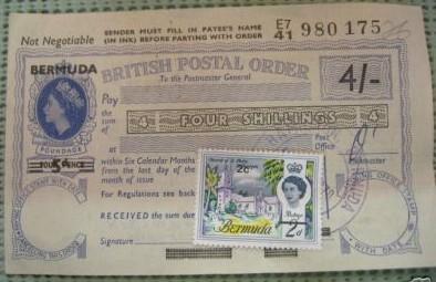 Bermuda postal order