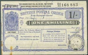 BAOR postal order