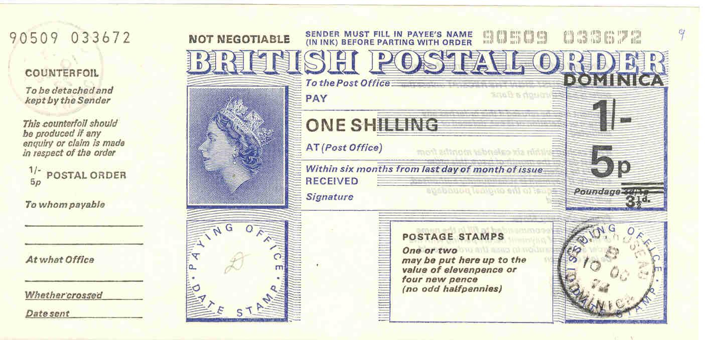 Dominica postal order