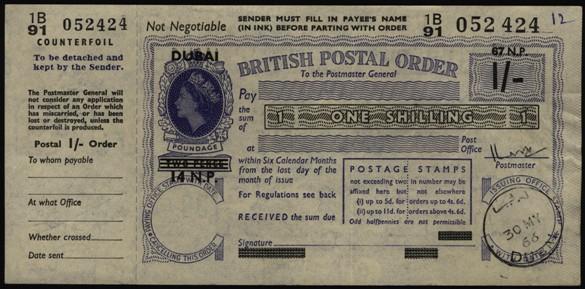 Dubai postal order