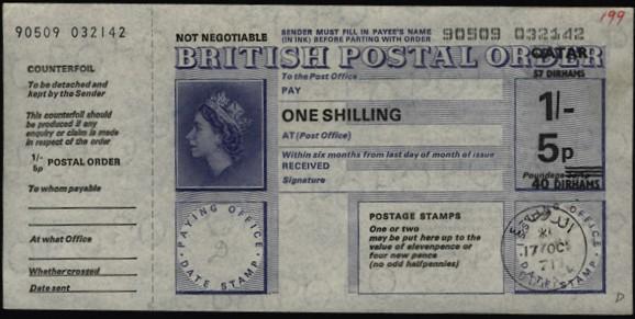 Qatar postal order