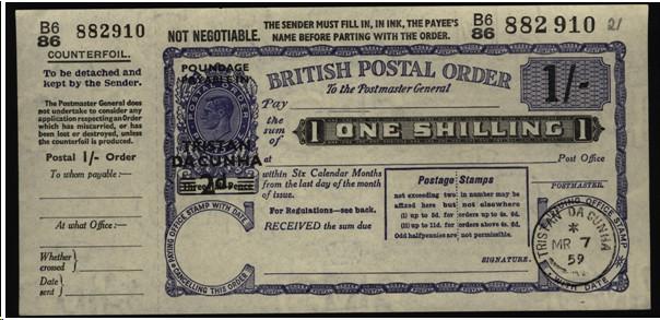 Tristan da Cunha postal order