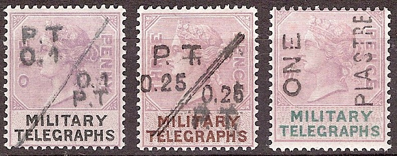 Military Telegraphs local surcharges low values