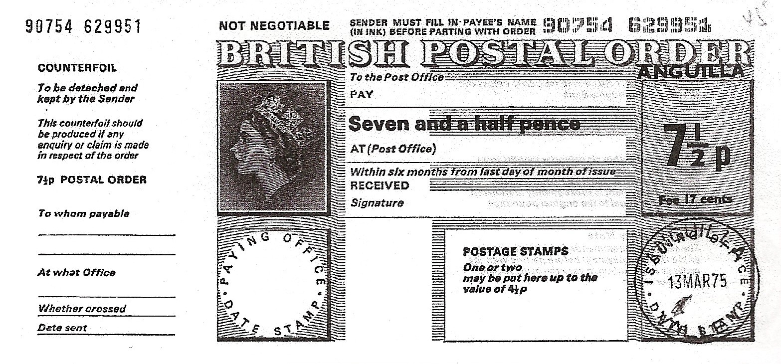Anguilla postal order