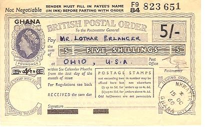 Ghana postal order