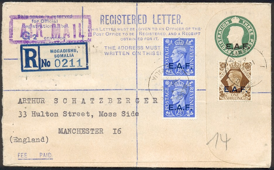 EAF registered envelope