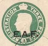 EAF registered envelope stamp