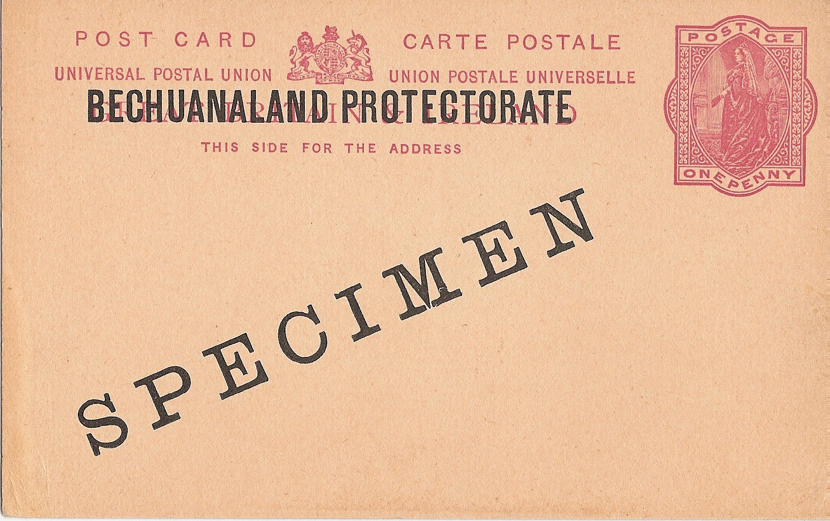 Bechuanaland Protectorate postcard QV 1d