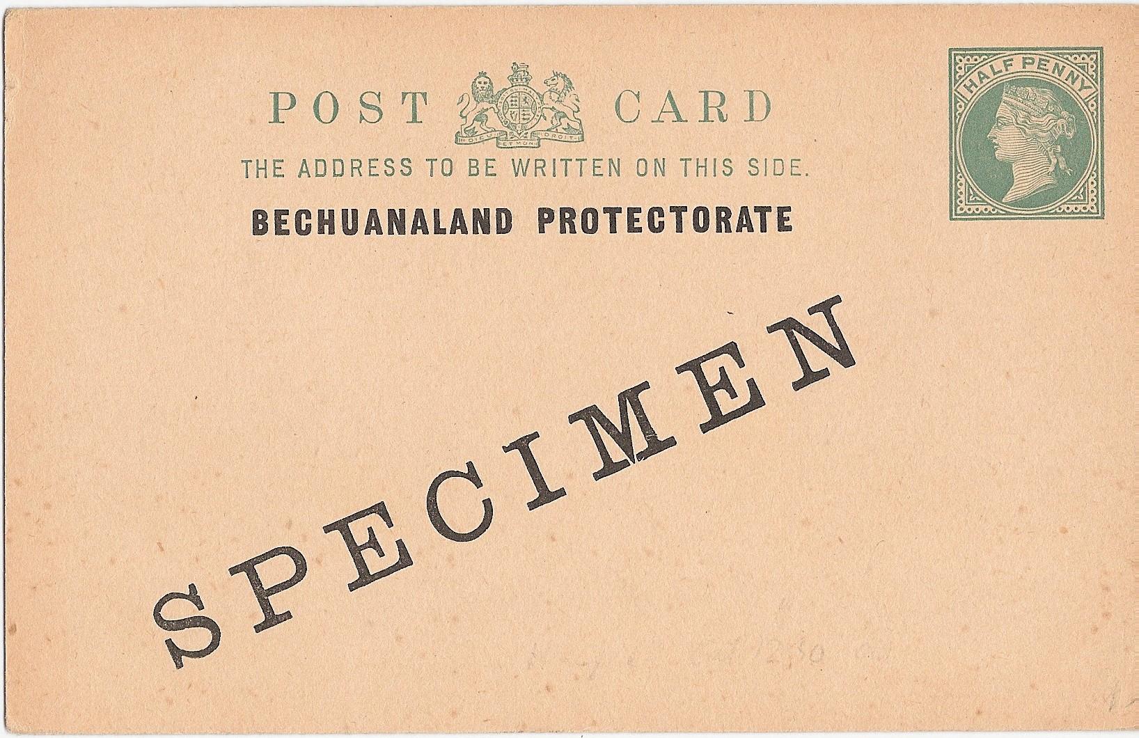 Bechuanaland Protectorate postcard QV halfd