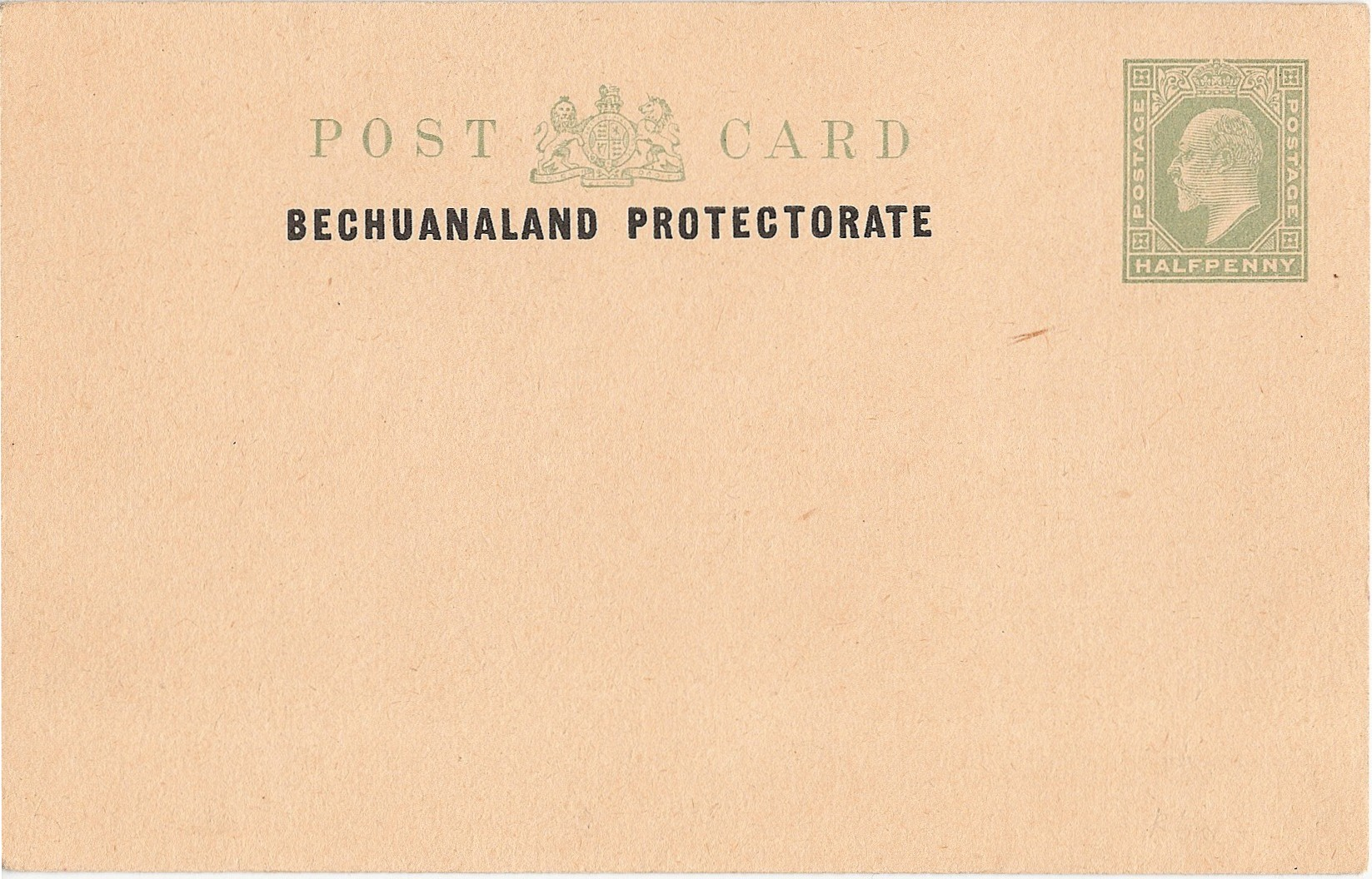 Bechuanaland Protectorate postcard E7 halfd