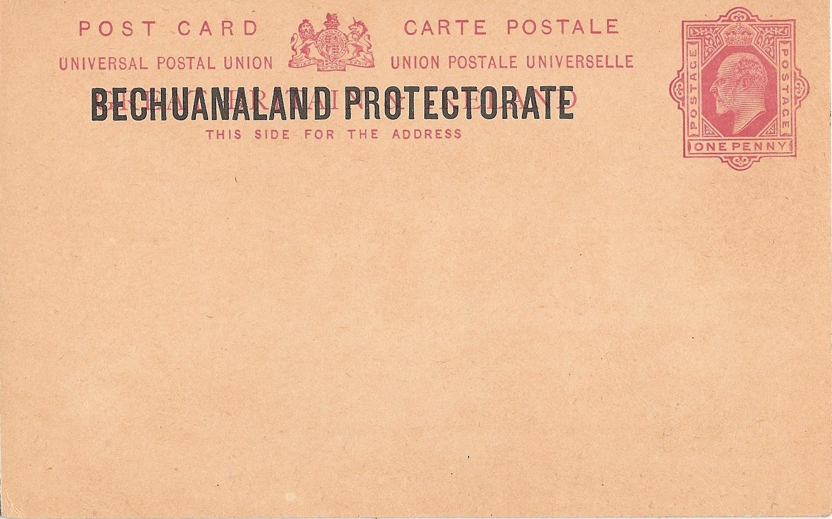 Bechuanaland Protectorate postcard E7 1d