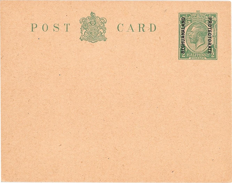 Bechuanaland Protectorate postcard G5 Mackennal halfd