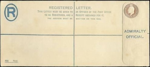 Admiralty Reg envelope