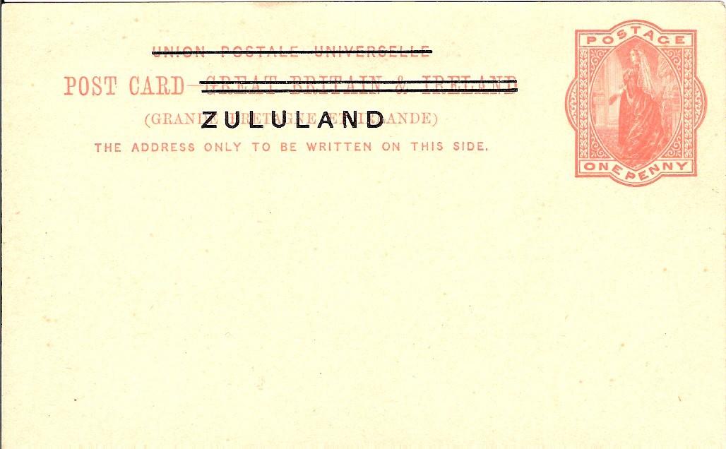 Zululand card 1d