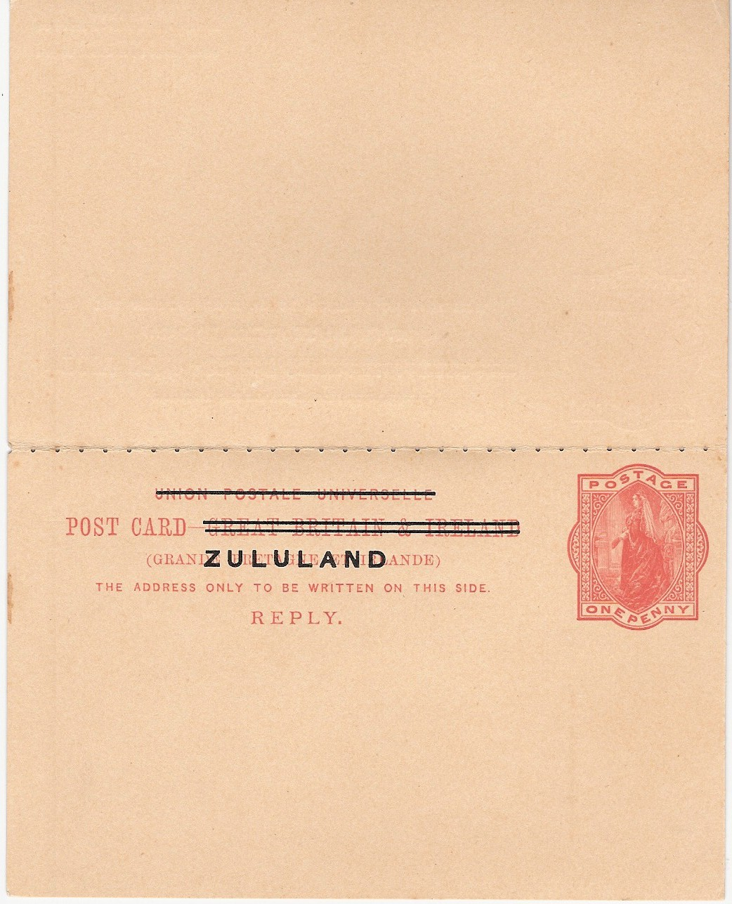 Zululand card 1d+1d reply