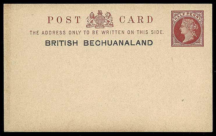 British Bech halfpenny card