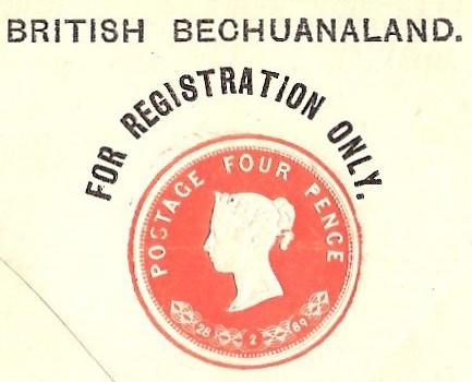 British Bech reg vermilion stamp