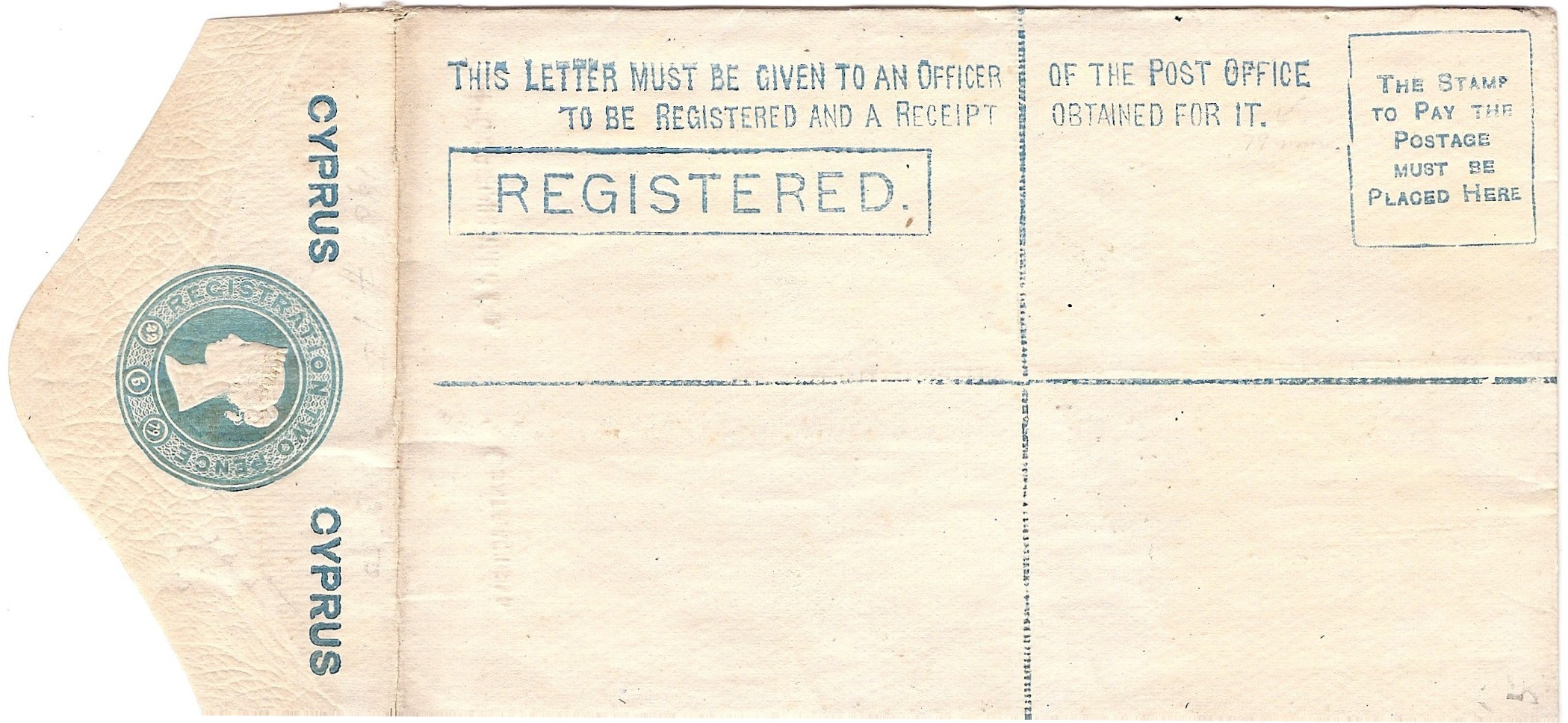 Cyprus registered envelope
