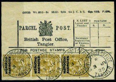 Tangier parcel label