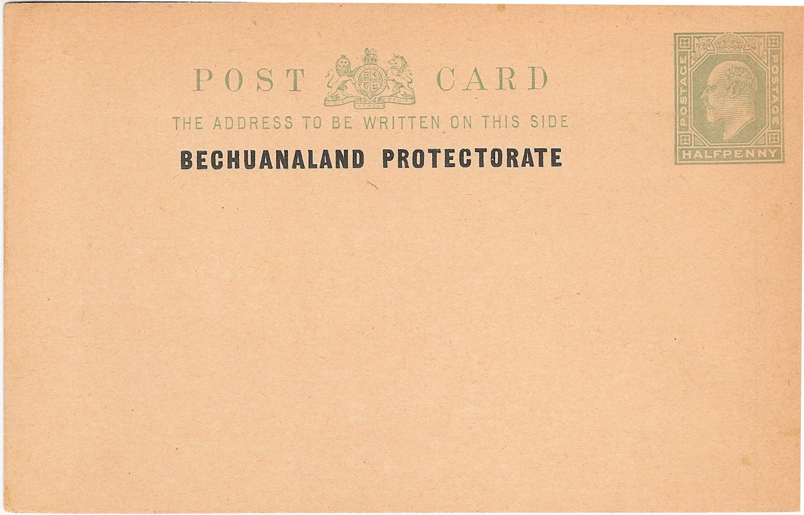 Bechuanaland Protectorate E7 card with instructions