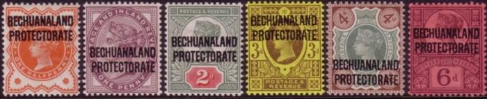 Bechuanaland protectorate QV set 200