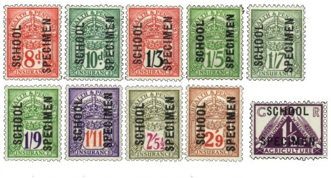 School specimen insurance stamps 200