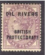 Oil Rivers transposed overprint 200