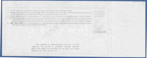 Canada 12/6d postal order rear 200