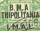 Tripolitania BMA 1MAL due missing dot 200