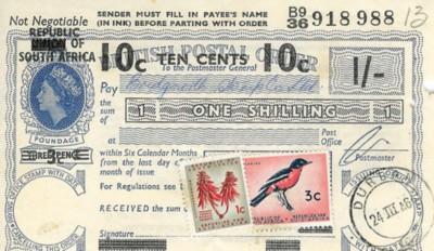 South Africa postal order 200