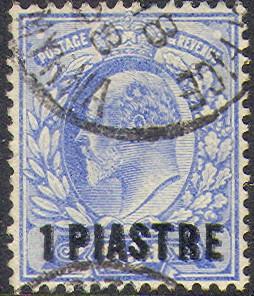 Levant 1906 1p double Rossi 72