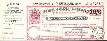 Ireland postal order 200