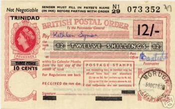 Trinidad postal order