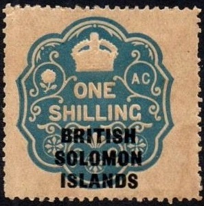 Solomon Island 1s revenue overprint